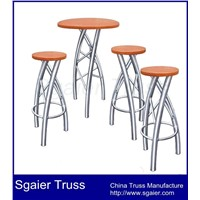 Aluminum exhibition table chair exhibition chair table