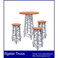 Aluminum truss furniture club table