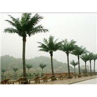 Artificial fake plastic coconut tree and plants for landscape decoration outdoor and indoor