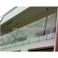 Balcony Building Glass Stainless Balutrade/Railing