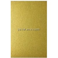 Brushed gold aluminum composite panel