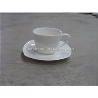 Ceramic Coffee Cup and Saucer Sets with Logo, SA8000, SMETA Sedex/BRC/ISO9001 Social Audit Factory
