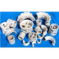 Ceramic alumina random tower chemical packing