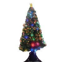 China Supplier of Optic Fiber Christmas Tree and Ordinary Christmas Trees with different Ornaments