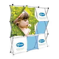 Collage Pop Up Tension Fabric Display