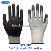 Cut 3 gloves with PU coating