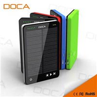 DOCA D595 Newest Arrival MP3 Player Solar Charger 10000mAh Power Bank