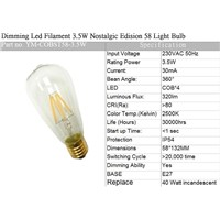 CE Dimming Led Filament  Light Bulb-ST64