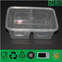Double Compartments Houseware Food Storage Container 850ml