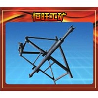 Electric drill rock drill frame