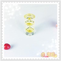 Exquisite Purple Acrylic Sandglass Acrylic Sand Timer for Promotion