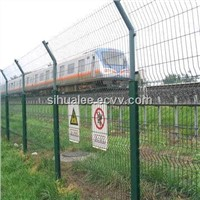 Factory price low carbon steel wire railway fence made in China