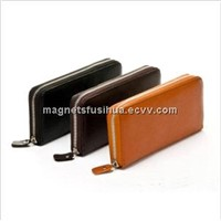 Fashion Men Wallets with Gold Metal