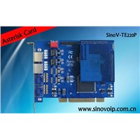 Fashionable TE220P!quad span digital card support EC module with pci interface