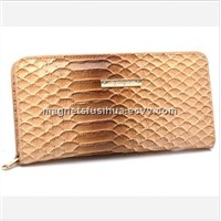 Faux Leather Wallet India Crocodile Leather Wallets (W066)