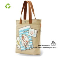 Full color custom printed canvas tote bags