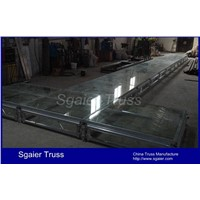 Glass stage transparent stage fashion show stage Tempered glass