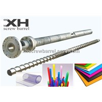 Granulator extruding screw barrels for Hollow Profile Sheet Extrusion