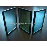 Heat insulated construction decorated curtain wall glass