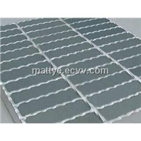 Hot dip galvanized serrated steel graiting