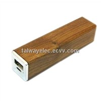 Hot selling mobile accessory-- pocket size wooden designed wooden power bank 1800mah 2600mah
