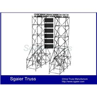 Layer truss for stage roof speaker truss