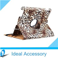 Leopart Pattern 360 Degree Rotating Stand Smart Cover PU Leather Case for iPad 2/3/4/Air