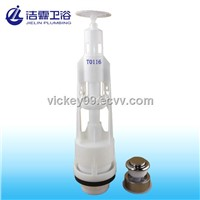 Light touch single flush valve