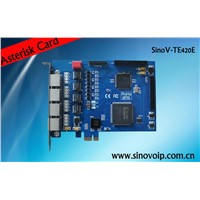 Lowest Price TE420E Digital E1/T1 Card for IP PBX