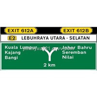 Malaysia expressway indicate guild direction traffic road street safety sign board panel signal