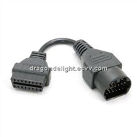 Mazda 17pin to 16Pin to OBDII OBD2 Interface Adapter Diagnostic Cable