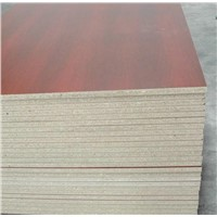 Melamined particle board for furniture