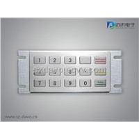 Metal Numeric Keypad with 15 Flush Keys