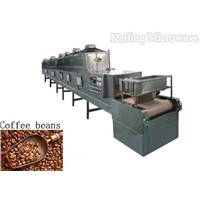 Microwave baking machine for coffee beans