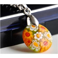 Millefiori glass jewelry wholesale stainless steel