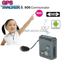 Mini GPS Tracker SOS Communicator GSM Audio Bug Monitor RV16 Child Kids Safety 2-Way Walkie Talkie