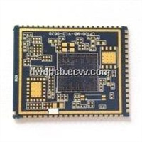 Multilayer PCB with BGA, gold plated