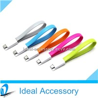 New Design Portable Bracelet Flat Magnet USB Data Sync Charger Cable With Different End