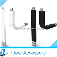 New Hot Selling USB Stand Up Data Cable for iPhone,Samsung,Sony,HTC,Nokia etc