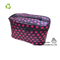 Newest Large Volume Multifunction Satin Cosmetic Bag