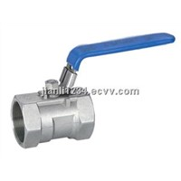 One piece ball valve with lock(304,316)