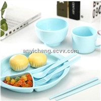PLA Corn Materials Children's tableware box sets
