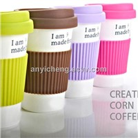 PLA corn material coffee cup