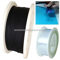 PMMA plastical fiber optic cable for communication and decoration