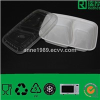 Plastic Lunch Box& Takeaway Food Container with Lid (RHC1000)