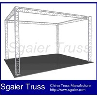 Portable roof truss for trade show booth exhibition truss