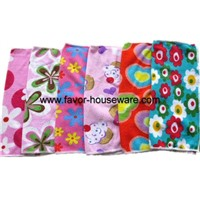 Printed microfiber dish cloth