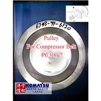 Pulley for Compressor Belt PC300-7 Komatsu Excavator