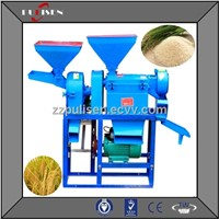 Rice milling and polishing machine