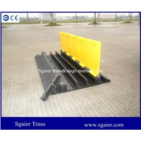 Rubber 3 channels road ramp cable protector hose ramp